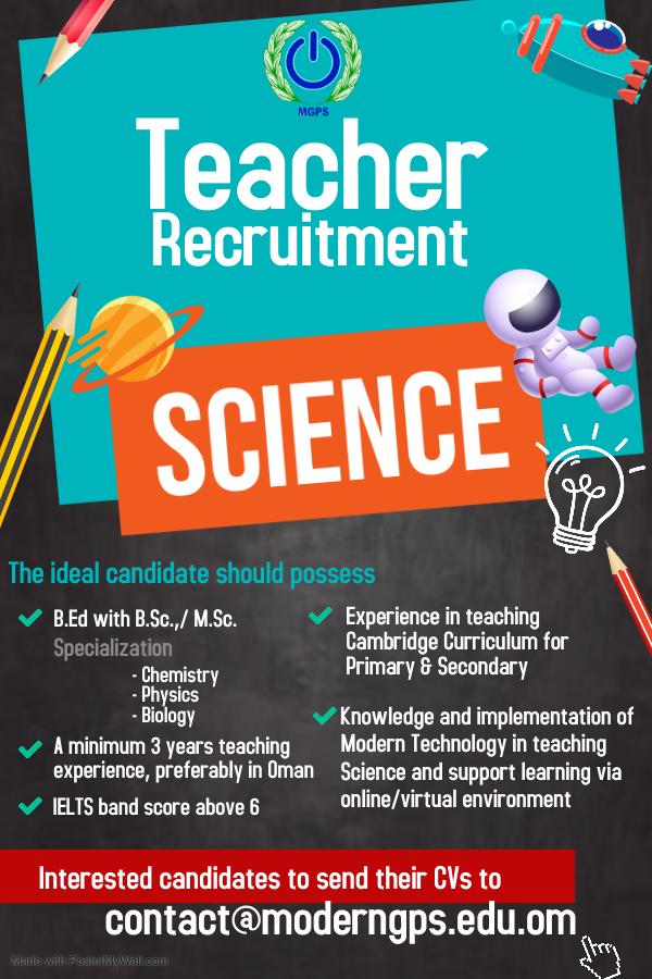 Science Vacancy